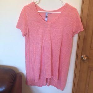 Wilt Pink Short Sleeved Hi Lo T-shirt
